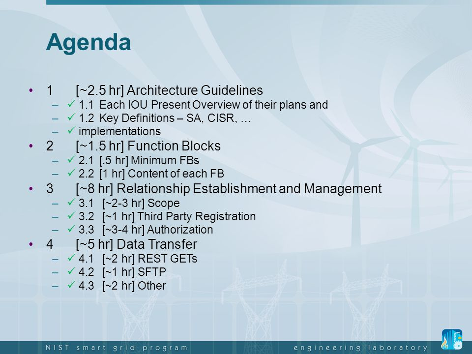 Agenda 1 [~2.5 hr] Architecture Guidelines 2 [~1.5 hr] Function Blocks